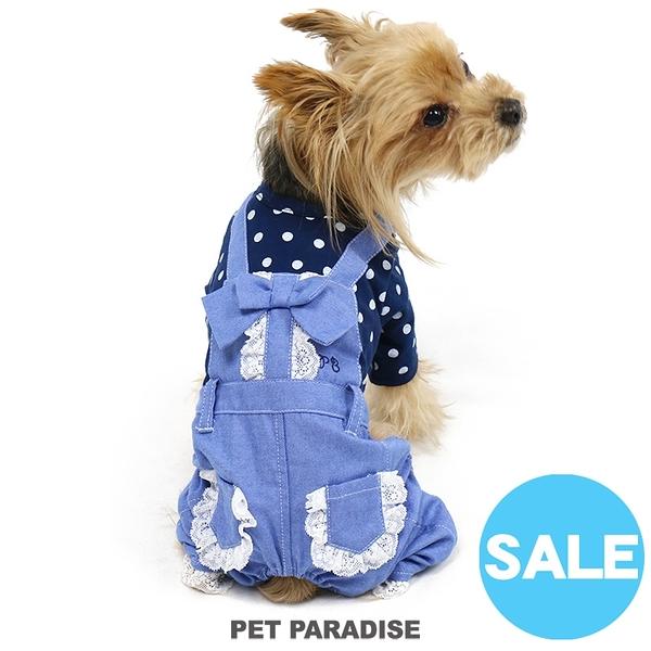 【PET PARADISE 寵物精品】Pretty Boutique 點點牛仔連身褲 (DSS/SS) 狗衣服 寵物衣服