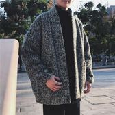 針織外套 毛衣外套男韓版潮流新款冬季寬鬆長袖針織開衫  萬客居