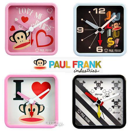 【完全計時】OUTLET手錶館│PAUL FRANK 大嘴猴 多款時尚方型鬧鐘/禮品
