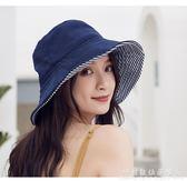 日本防曬帽女遮陽防紫外線日系遮臉太陽帽uv漁夫帽子     科炫數位