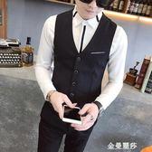 西裝馬甲襯衫馬甲男韓版修身潮帥氣薄款發型師外套潮男時尚休閒小西裝背心 金曼麗莎