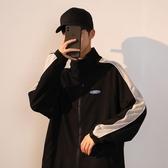 加絨外套男秋冬潮流休閒韓版棒球服運動夾克上衣【橘社小鎮】