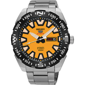 【送輕量背包】SEIKO 精工 5號盾牌賽車機械錶-黃/45mm 4R36-04V0Y(SRP745J1)