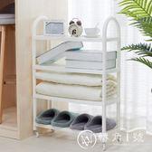 日式塑料鞋架經濟型簡易省空間組裝宿舍鞋收納架家用鞋柜簡約現代