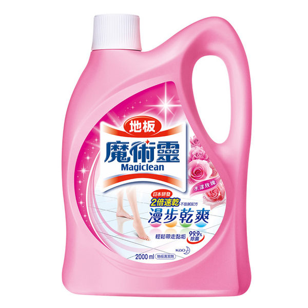 魔術靈 地板清潔劑 (水漾玫瑰) 2000ml/瓶