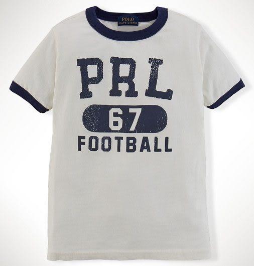 Ralph Lauren Polo短袖上衣 英文簡寫67圖案米白色設計款短袖T恤