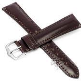 【台南 時代鐘錶 海奕施 HIRSCH】小牛皮錶帶 Siena L  棕色 附工具 04202010  純手工光滑觸感