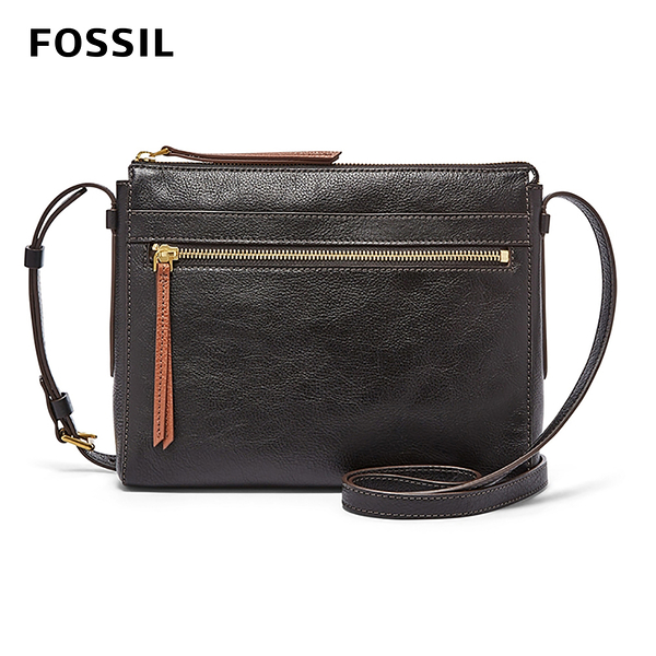 FOSSIL FELICITY 真皮輕便小方包-黑色 SHB2000001