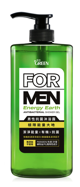 綠的男性抗菌沐浴露-極限能量大地750ml