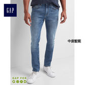 Gap男裝 彈力緊身牛仔褲 866477-中度靛藍
