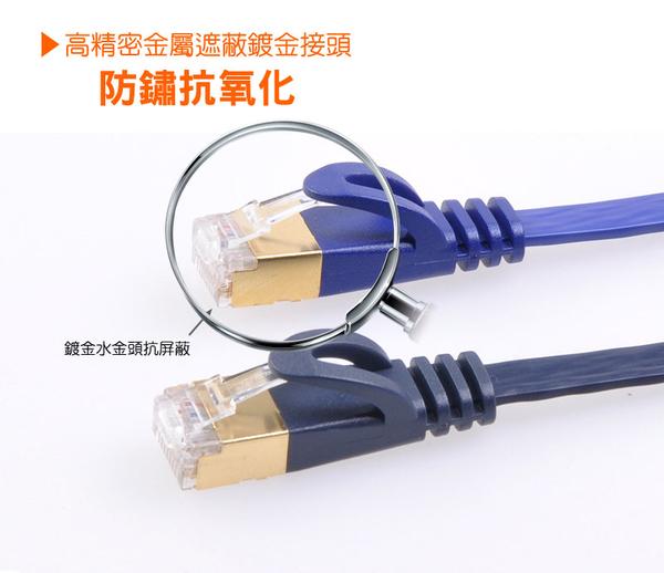 群加 Powersync CAT 7 10Gbps 超高速網路線RJ45 LAN Cable【超薄扁平線】珠光藍 / 5M (C7PB05FL)
