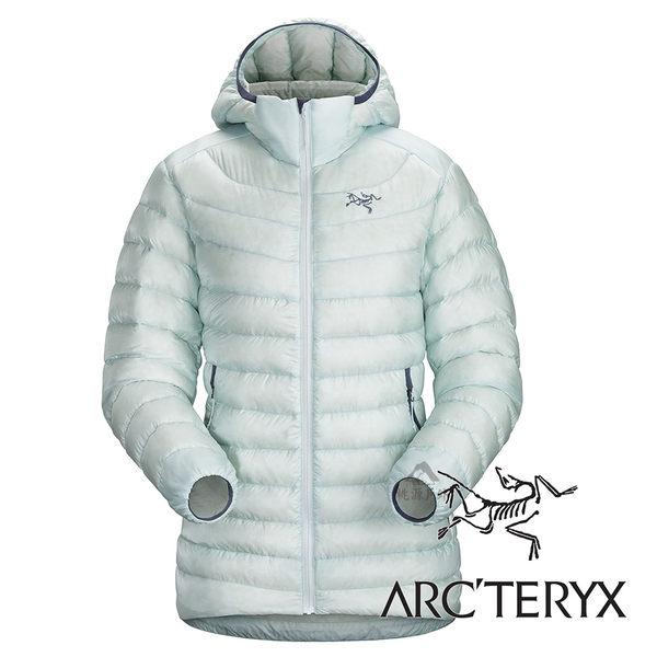 【Arc''teryx 始祖鳥】女頂級歐洲白鵝絨羽絨外套(膨脹係數850.修身版型.超輕)『露珠藍』L06920
