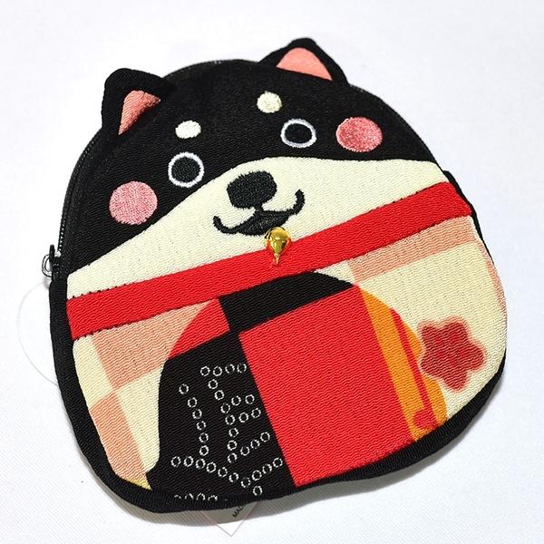 日本 和風柴犬 拉鏈 錢包 化妝包 隨身包 日本正版