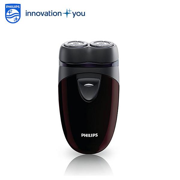PHILIPS飛利浦 電池式雙刀頭輕巧電鬍刀/刮鬍刀 PQ206