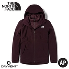 【The North Face 女 DV防水化纖保暖兩件式外套(可套式)《紅褐》】4NFB/衝鋒衣/防水外套/風雨衣