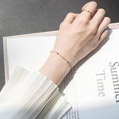 銀飾純銀手錬女韓版簡約清新個性細款圓珠手錬學生首飾品   蓓娜衣都