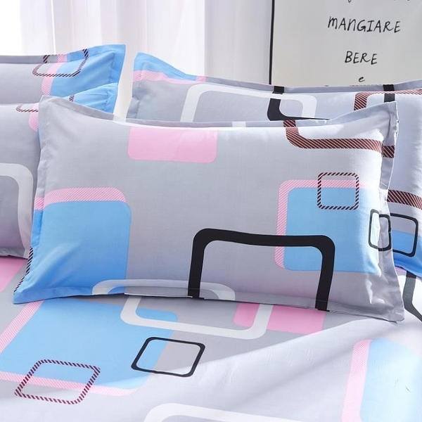 一對裝 枕套枕頭套單人兒童卡通女枕用枕芯套【聚寶屋】