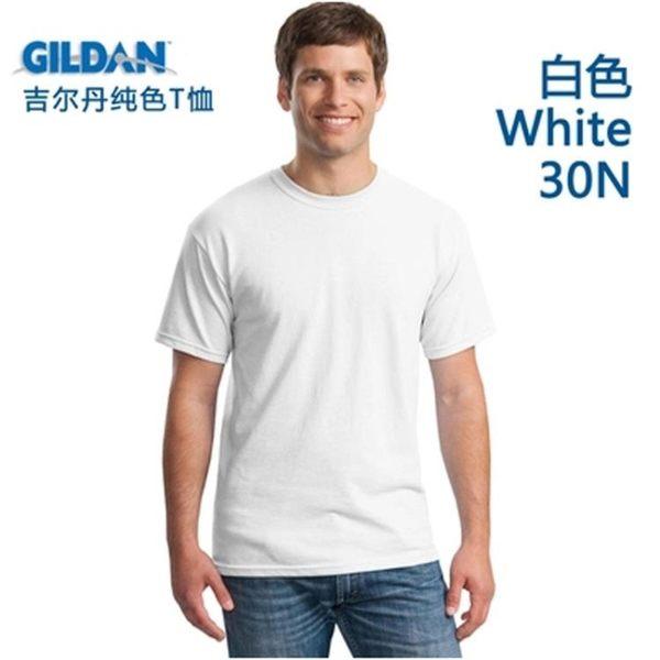 男生T恤 GILDAN吉爾丹76000純棉純色圓領空白色班服寬短袖T恤廣告衫印定制 小宅女