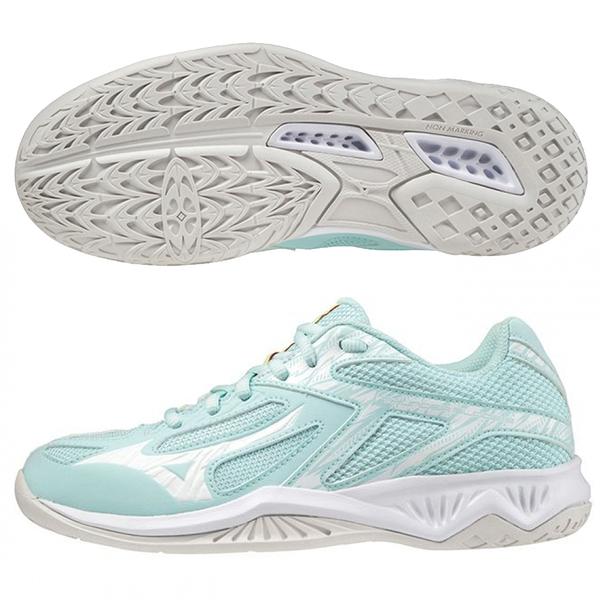 MIZUNO THUNDER BLADE 3 女鞋 排球 手球 輕量 耐磨 湖水綠【運動世界】V1GC217026