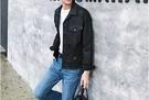 找到自己品牌 歐美高街男士個性款純色塗層短款牛仔夾克