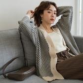 MIUSTAR 熱賣款!鋸齒紋排釦針織外套(共2色)【NH2616】預購