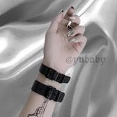 手鍊:暗黑風錶帶手環鈦鋼~新飾界~新飾界