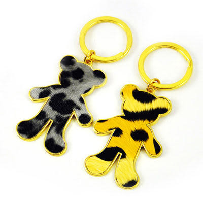 [AWANA]我愛熊毛紋造形鑰匙圈(超值二入)