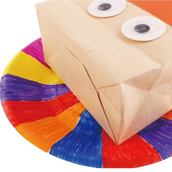 【BlueCat】感恩節DIY手做火雞造型牛皮紙袋手偶