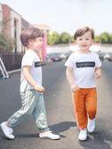 兒童防蚊褲夏季薄款棉麻女童新款夏裝寶寶冰絲男童燈籠長褲子 焦糖布丁
