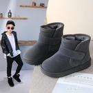 男童鞋8雪地靴9冬季款12女童加絨棉靴13中大童防滑短靴小學生12歲 朵拉朵衣櫥