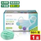 南六 醫療用平面口罩(成人)(綠色)-5...