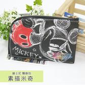 ☆小時候創意屋☆ 迪士尼 素描米奇 頸掛包 手機包 卡片包 零錢包 證件包 收納包 悠遊卡包 短夾
