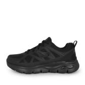 Skechers Arch Fit Sr-axtell [200025WBLK] 男鞋 防滑工作運動鞋 寬楦 休閒 全黑