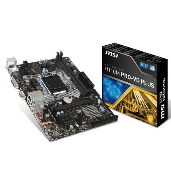 微星MSI H110M PRO-VD PLUS Intel 1151主機板