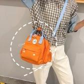 上新小包包雙肩包女小清新少女日系軟妹帆布斜跨背包百搭迷你書包