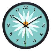 卡通創意12寸靜音掛鐘客廳臥室大號時尚現代簡約鐘錶  wy 年貨慶典 限時鉅惠