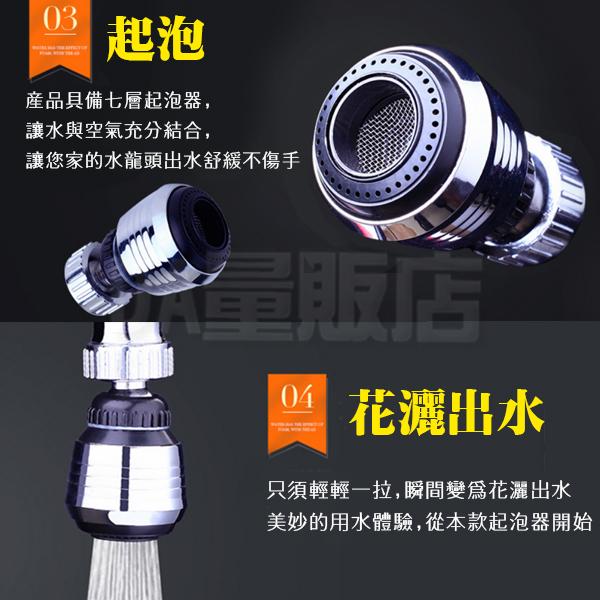 水龍頭 節水器 省水器 起泡器 過濾嘴 過濾器 延伸器 噴頭 濾水 花灑 防濺水 360度 廚房