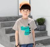 小象漢姆童裝男童夏裝短袖T恤兒童卡通t男孩體恤衫新款中大童『夢娜麗莎精品館』