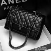 小包包女2020新款時尚小ck洋氣菱格鏈條網紅小黑包質感百搭斜挎包 依凡卡時尚