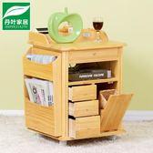 實木床頭櫃簡約現代迷你多功能簡易收納儲物櫃鬆木臥室床邊櫃 igo全館免運
