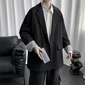 西裝外套小西裝外套男2021新款潮流韓版痞帥寬鬆男裝衣服港風休閒西服  雲朵 上新