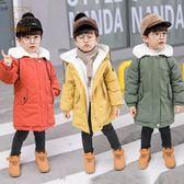 男童冬裝1中小童23外套新品寶寶棉襖5中長款加絨兒童