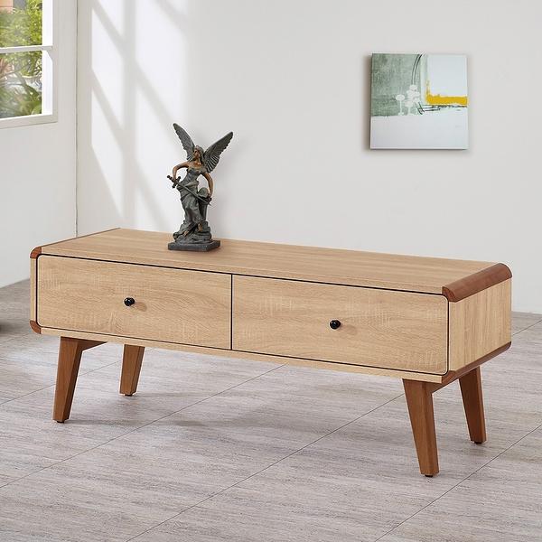 【森可家居】柏克4尺電視櫃 8ZX578-5 長櫃 木紋質感 無印風 北歐風