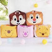 迪士尼拉鍊旅行收納包 小熊維尼+奇奇蒂蒂 行李箱收納袋 化妝品盥洗包 洗漱包 沐浴包