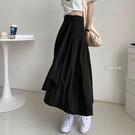 長裙 不規則半身裙女春季2021年韓版寬鬆中長款高腰顯瘦A字裙子