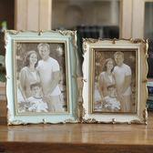 新年鉅惠創意擺臺相框美式做舊簡約家居影樓樹脂歐式照片框6寸7寸相架