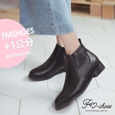 靴.簡約經典素面低跟卻爾西短靴-FM時尚美鞋-韓國精選.PURE