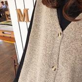 Qmigirl 毛衣裙背心外套寬鬆慵懶風兩件式套裝【WT2194】