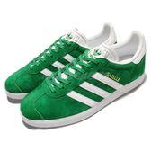 adidas 休閒鞋 Gazelle 綠 白 復古 麂皮 金標 運動鞋 男鞋 女鞋【PUMP306】 BB5477