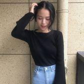 夏季韓版chic新款圓領針織衫打底衫